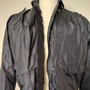 VTG Daniel Hechter Black M 38 Zipper silk jacket